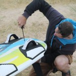Check your fin is a snug fit and you have the correct fin bolts.